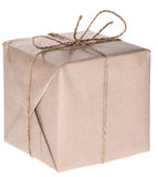 Parcel isolated on white Royalty Free Stock Image