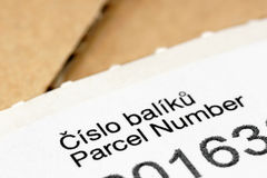 Parcel number. Royalty Free Stock Photography