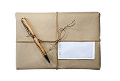 Parcel/Package/ Twine and Label Royalty Free Stock Images