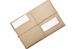 Parcel/Package/ Twine and Label Royalty Free Stock Photography