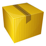 Parcel package. Vector illustration of Parcel package sealed with tape Royalty Free Stock Images