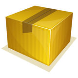 Parcel package. Vector illustration of Parcel package sealed with tape Royalty Free Stock Image