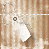 Parcel post. Close up of vintage parcel post with tag Stock Photo