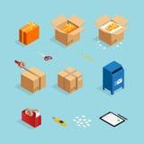 Parcel Post Packing Set stock illustration