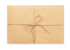 Parcel post on a white background isolated Royalty Free Stock Image