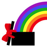 Parcel with rainbow gift Royalty Free Stock Images