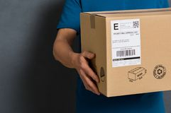 Parcel ready for shipment Royalty Free Stock Image