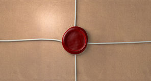 Parcel With Red Wax Seal And String Royalty Free Stock Photos