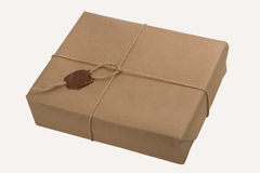 Parcel with a rope and wax Royalty Free Stock Photos