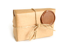 Parcel with sealing wax Stock Image