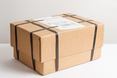 Parcel with strapping royalty free stock photography