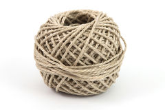 Parcel string. Ball of parcel string with a white background Royalty Free Stock Photo