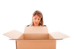 Parcel surprise Stock Photography