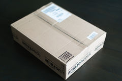 Parcel waiting at home Royalty Free Stock Photos