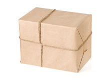 Parcel on white Stock Photography