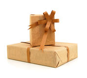 Parcel wrapped Stock Photos
