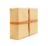 Parcel wrapped box Royalty Free Stock Image