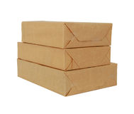 Parcel wrapped box Royalty Free Stock Photography
