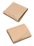 Parcel wrapped with brown kraft paper Stock Photo