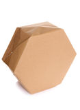 Parcel wrapped in brown paper Stock Image