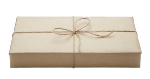 parcel wrapped packaged box Stock Photo