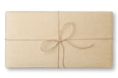 Parcel wrapped packaged box Stock Photos