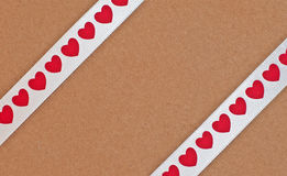 Parcel Wrapped in Ribbon Tape Royalty Free Stock Images