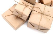 Parcel wrappings Stock Images