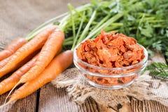 Parcela de cenouras secadas imagem de stock