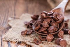 Parcela de cornklakes do chocolate Fotos de Stock Royalty Free