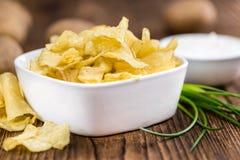 Parcela de gosto de Chips Sour Cream da batata foto de stock royalty free