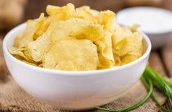 Parcela de gosto de Chips Sour Cream da batata imagem de stock royalty free