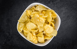 Parcela de gosto de Chips Sour Cream da batata fotos de stock royalty free