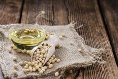 Parcela de óleo da soja Imagem de Stock