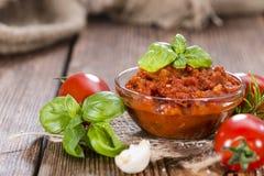 Parcela de molho de tomate Imagem de Stock Royalty Free