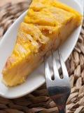 Parcela de omeleta espanhola Foto de Stock Royalty Free