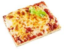 Parcela de pizza de queijo italiana tradicional Fotografia de Stock