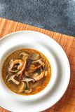 Parcela de sopa tailandesa de tom yum imagem de stock royalty free