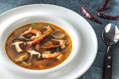 Parcela de sopa tailandesa de tom yum fotografia de stock royalty free