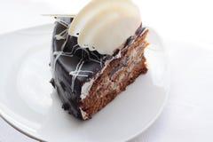 Parcela de um chocolate da torta. Fotos de Stock