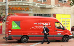 Parcelforce Delivery Van Royalty Free Stock Image