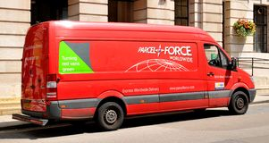 Parcelforce Stock Image