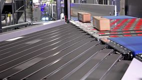 Parcels and foil bags on conveyors