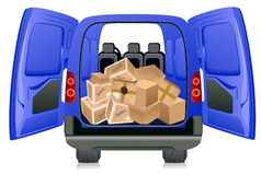 Parcels in minibus Royalty Free Stock Image