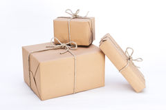 Parcels ready for dispatch Royalty Free Stock Images