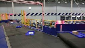 Parcels traveling on the conveyor belt