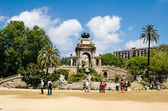 Parcen de la Ciutadella Barcelona Arkivfoto