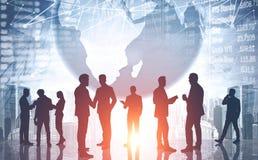 Parceria e conceito internacionais do mercado de valores de ação imagem de stock royalty free