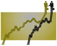 Parceria e crescimento Foto de Stock Royalty Free