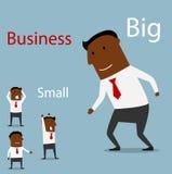 Parceria entre a empresa de pequeno porte grande e Foto de Stock